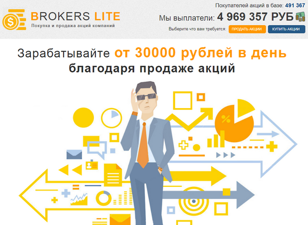 Лохотрон BROKERS LITE отзывы