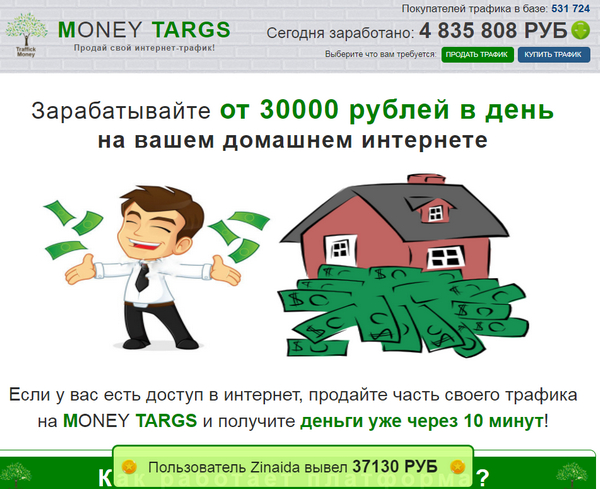 Лохотрон MONEY TARGS отзывы