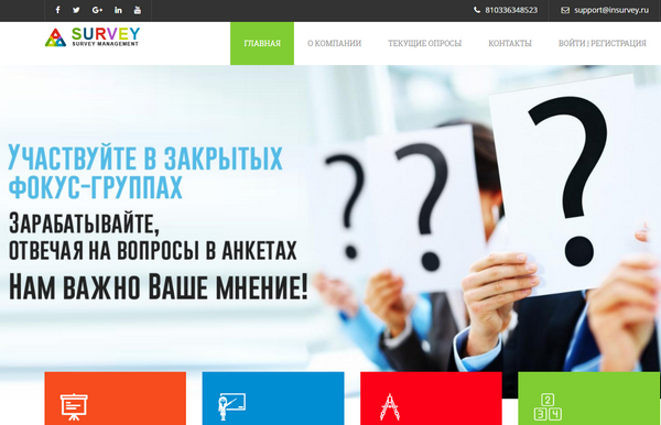 Лохотрон Survey Management Group отзывы