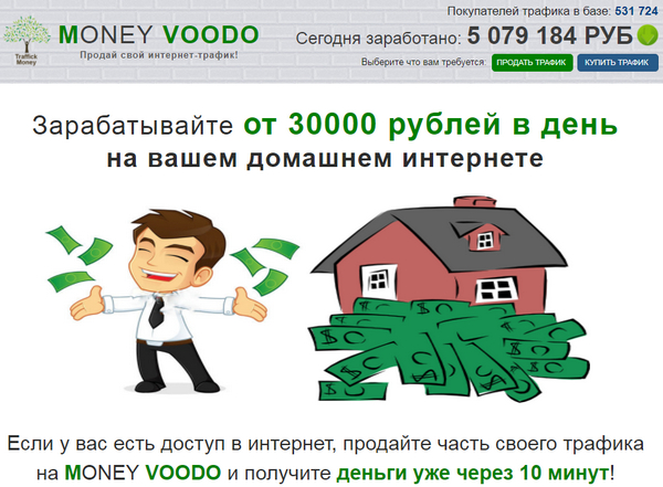 Лохотрон MONEY VOODO отзывы