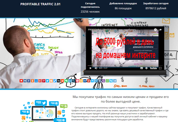 Лохотрон PROFITABLE TRAFFIC 2.01 отзывы